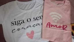 Camisa Feminina P 100% Algodão