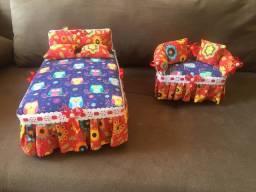 Artesanato - cama e sofazinho