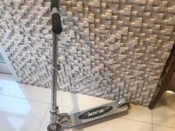 Patinete de Alumínio Cromado c/ amortecedor e freio manual
