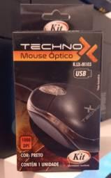 Mouse Óptico techno cor preta ultima unidade