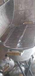 Churrasqueira alumínio fundido grande