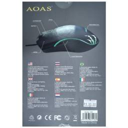 Mouse Gamer com fio USB K40 Aoas