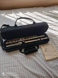Flauta Transversal Eagle Fl03n Fl03 Em Dó Com Case Niquelada