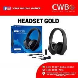 Headset Gold PS4,em até 12x sem juros,novo lacrado e com garantia,somos loja fisica