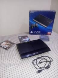 PS3 com 3 jogos originais