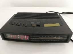 Rádio relógio Toshiba antigo