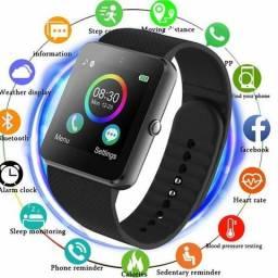 Relógio inteligente atende faz chamadas bluetooth, câmera,MP3 entrega grátis
