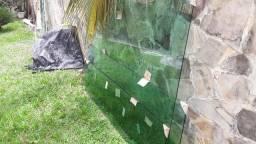 Porta de abrir de vidro Blindex Verde