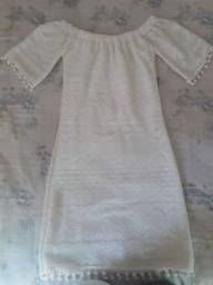 Vestido de renda branco usado