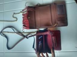 Bolsas Carteiras Vermelha e Marsala