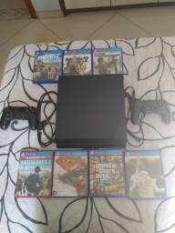 Vendo PS4 FAT 500GB + 7 Jogos + 2 DUALSHOCK 4