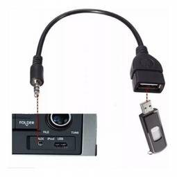 Cabo Adaptador P2 X Usb Femea Automotivo Mp3 Mp4 Auxiliar 15cm