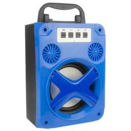 R$79,90 Caixa Som Portátil Bluetooth Mp3 Usb Sd Card Rádio Fm c/ Led