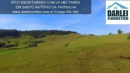 Sitio em Santo Antônio 25Ha , Morro da Figueira com Mangueira- Peça o Video Aéreo