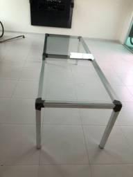 Vendo mesa de vidro e fibra