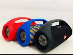 Caixa De Som Mini Boombox Bluetooth Vermelha Importada
