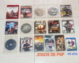 Jogos de PS3, PSP e PS Vita