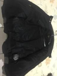 Jaqueta em couro legítimo para motoqueiro