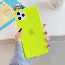 Kit Capa de Silicone para Iphone 11, Fluorescente c/ 25 unidades