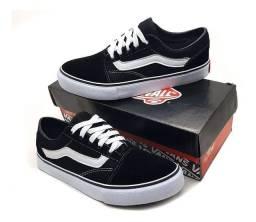 Tênis Vans Old Skool Unissex-Black&White-Tam 38 *Liquida Jan*