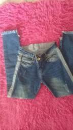 Calça jeans  infantil  tamanho  10