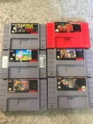 Coleção de fitas de Super Nintendo (SNES)