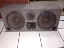 Caixa de som + 2 modulos/amplificadores