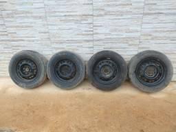 Jogo de rodas 13 de ferro semi novas originais do gol G3