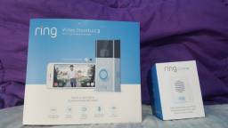 Campainha Ring Video Doorbell 2 + Chime (IMPORTADA)