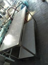 Título do anúncio: Bancada lisa 1,90x0,70cm reforçada - pés em aço inox 304