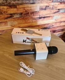 Microfone Bluetooth Sem Fio Karaokê Youtuber Reporter