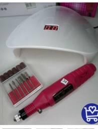 Kit manicure-cabine secador+lixa elétrica