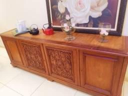 Peça rara buffet estilo colonial em madeira maciça