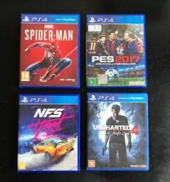 Games PS4 - preços na descrição