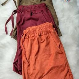 Shorts de suede