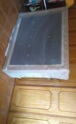 Base para Cama Box Casal Premium com Baú (45x138x188) Suede Pena Bege - Mobly