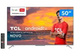 Smart TV 4K Uhd LED 50? Tcl Android Wi-Fi - Bluetooth 3 Hdmi 2 Usb