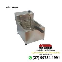 Fritadeira Elétrica 5 Litros Edanca Inox Profissional