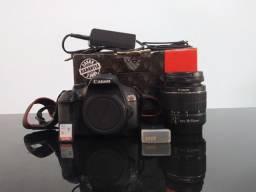 Câmera dslr Canon T6 + 18-55mm + 50mm + flash youngnuo