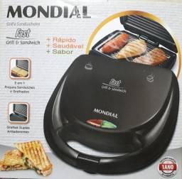 Sanduicheira Mondial Fast Grill e Sandwich 750W 110v