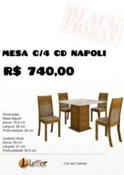 Conjunto Mesa com Cadeiras 4 e 6