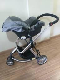 Carrinho bebê com Moisés e bebê conforto mobi safety