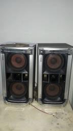 2 caixa de som mais aparelhos Sony