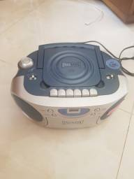 Cd Player Com Cassete Inovox