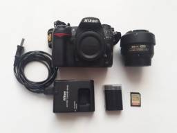 Câmera Nikon D7000 + lente Nikkor 35mm + Acessórios