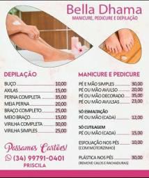 Manicure,pedicure e depilação