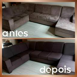 Sofá limpo e higienizado