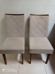 02 Cadeiras estofadas para mesa de jantar