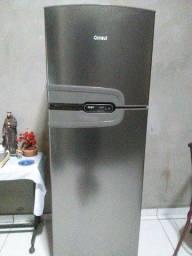Geladeira Consul frost free duplex 275 litros, inox com prateleiras altura flex