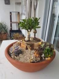 Mini Jardim de fadas iluminado